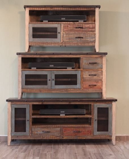 """International Furniture© 900 Antique 62"""" Stackable TV Stand-IFD967STAND"""
