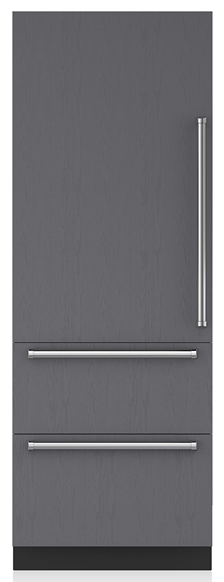Sub-Zero® Designer 15.6 Cu. Ft. Panel Ready Bottom Freezer Refrigerator-IT-30CI-LH