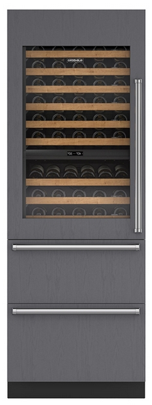 "Sub-Zero® Designer 30"" Panel Ready Wine Cooler with Refrigerator Drawers-IW-30R-LH"