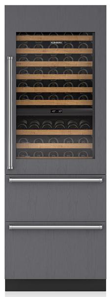 "Sub-Zero® Designer 30"" Panel Ready Wine Cooler with Refrigerator Drawers-IW-30R-RH"