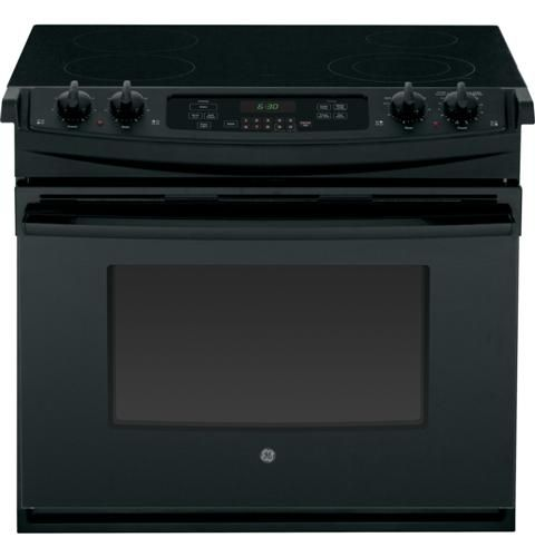 "GE® 30"" Drop In Electric Range-Black-JD630DFBB"