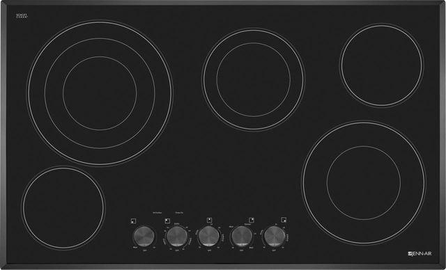 "JennAir® 36"" Electric Cooktop-Black-on-Black-JEC3536BB"