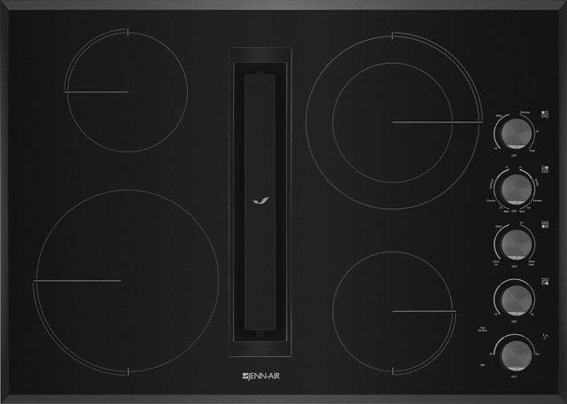 "JennAir® 30"" Electric Downdraft Cooktop-Black-JED3430GB"