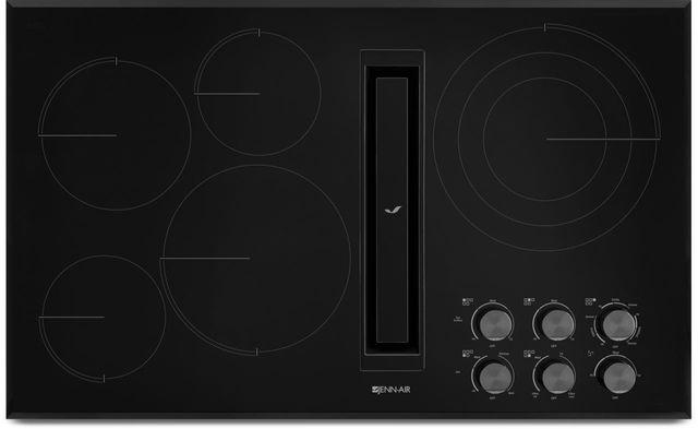 "JennAir® 36"" Electric Downdraft Cooktop-Black-JED3536GB"