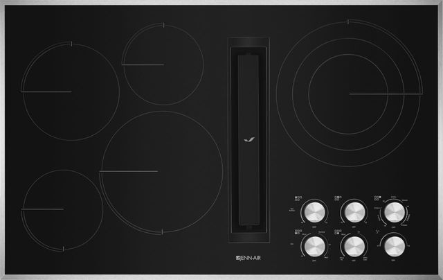 """JennAir® 36"""" Electric Downdraft Cooktop-Stainless Steel-JED3536GS"""
