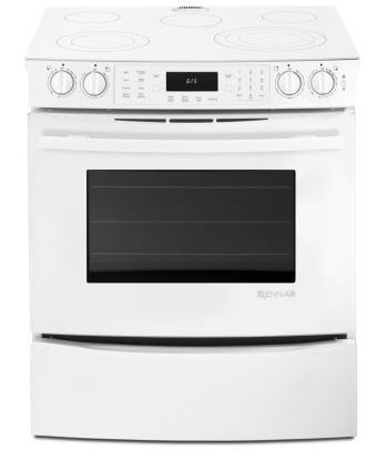 """JennAir® 30"""" Slide In Electric Range-Frosted White-JES8850CAF"""