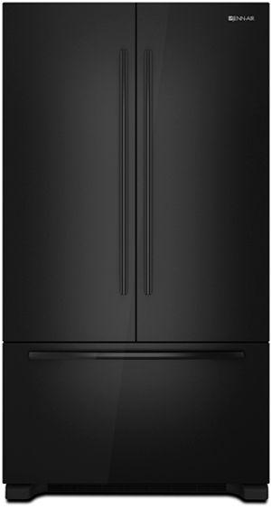 JennAir® 21.8 Cu. Ft. Cabinet Depth French Door Refrigerator-Black-JFC2290VPY