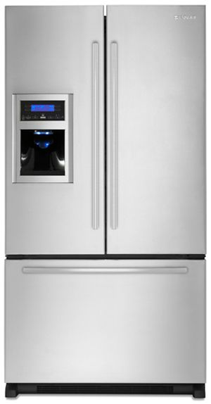 JennAir® 19.8 Cu. Ft. Cabinet Depth French Door Refrigerator-Stainless Steel with Black-JFI2089WES