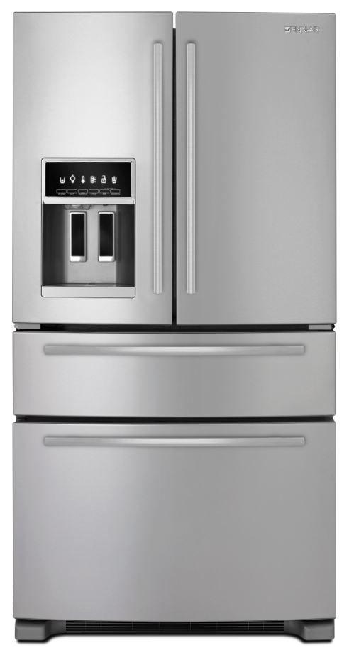JennAir® Freestanding Refrigerator with Third Refrigerated Drawer-Stainless Steel-JFX2597AEM