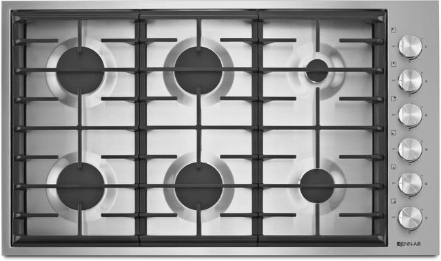 "JennAir® 36"" Gas Cooktop-Stainless Steel-JGC7636BS"