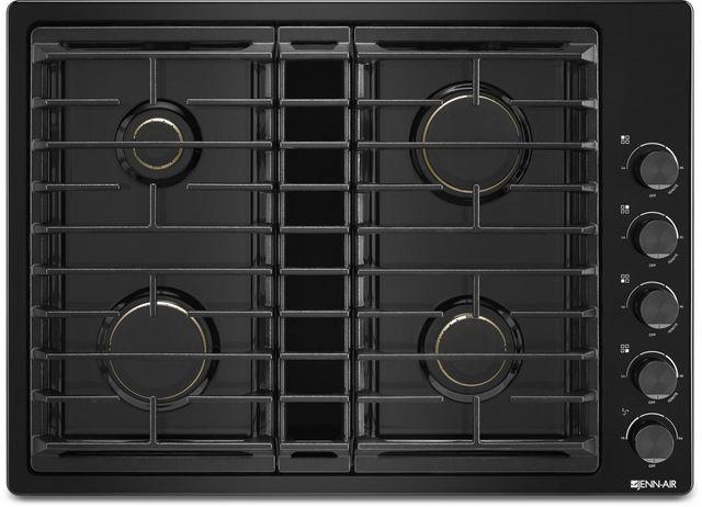 """JennAir® 30"""" Gas Downdraft Cooktop-Black-JGD3430GB"""