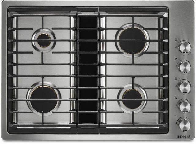 "JennAir® 30"" Gas Downdraft Cooktop-Stainless Steel-JGD3430GS"