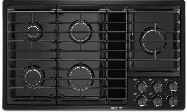 """JennAir® 36"""" Gas Downdraft Cooktop-Black-JGD3536GB"""