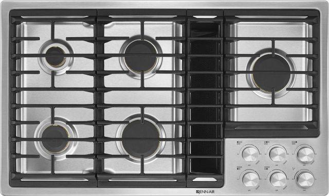 "JennAir® 36"" Gas Downdraft Cooktop-Stainless Steel-JGD3536GS"