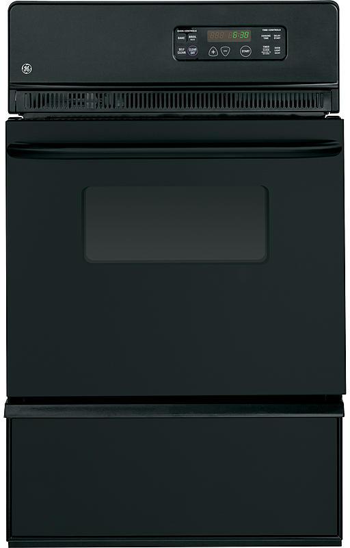 "GE® 24"" Gas Built In Oven-Black-JGRP20BEJBB"