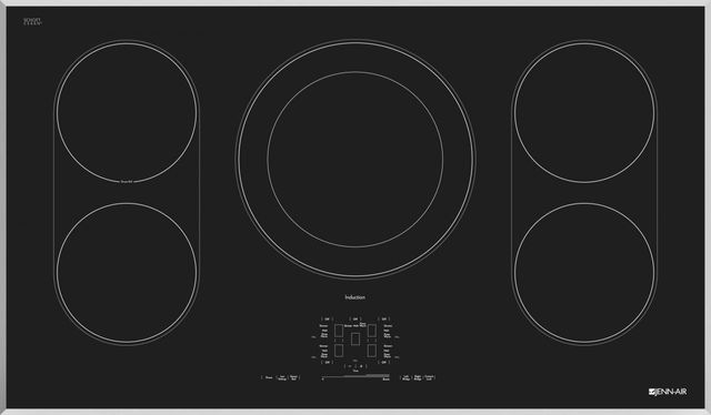 """JennAir® 36"""" Induction Cooktop-Stainless Steel-JIC4536XS"""