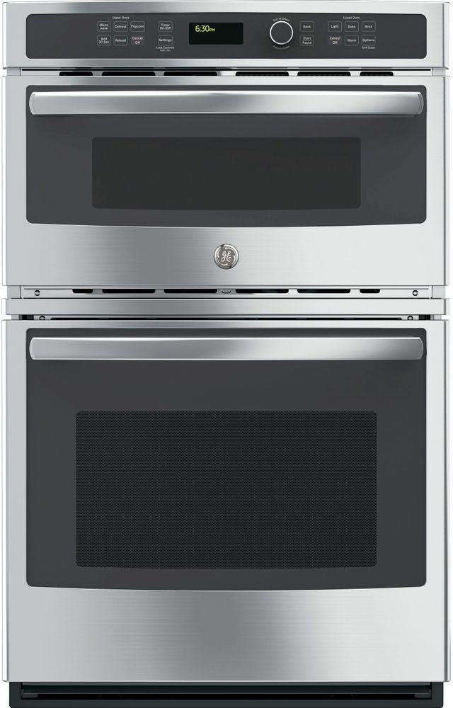 """GE® 26.75"""" Stainless Steel Electric Built In Combination Microwave/Oven-JK3800SHSS"""