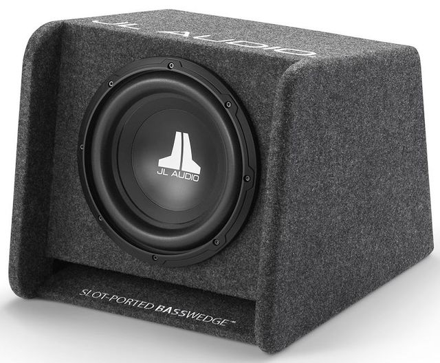 JL Audio® Single 10W0v3 BassWedge™ Subwoofer System-CP110-W0v3