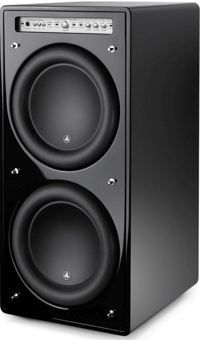 """JL Audio® Fathom® V2 12"""" Dual Powered Subwoofer-Black Gloss-F212V2-GLOSS"""