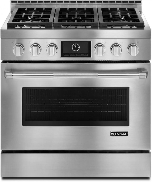 "JennAir® Pro-Style® 36"" Freestanding LP Range-Stainless Steel-JLRP436WP"