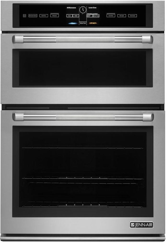 """JennAir® 30"""" Stainless Steel Electric Oven/Micro Oven-JMW3430DP"""