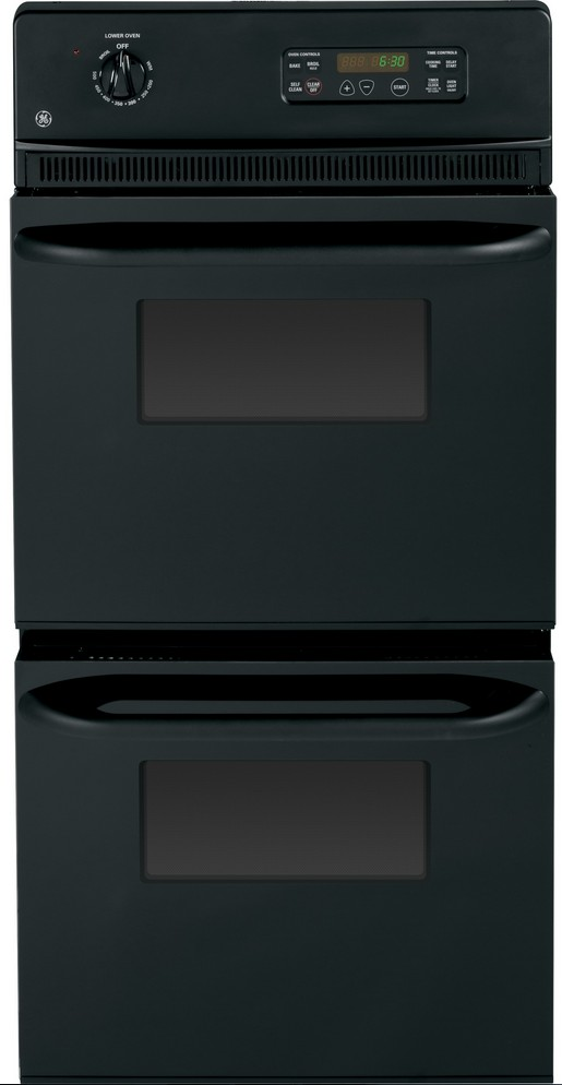 """GE® 24"""" Electric Double Oven Built In-Black-JRP28BJBB"""