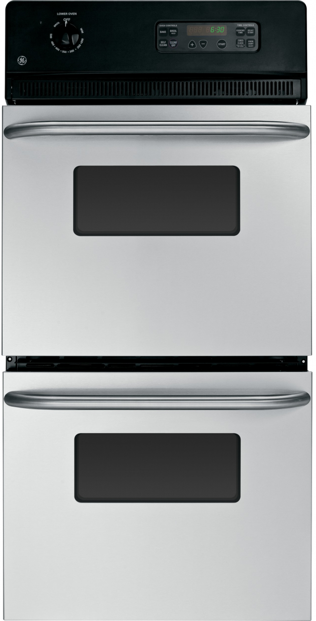 """GE® 24"""" Electric Double Oven Built In-Stainless Steel-JRP28SKSS"""