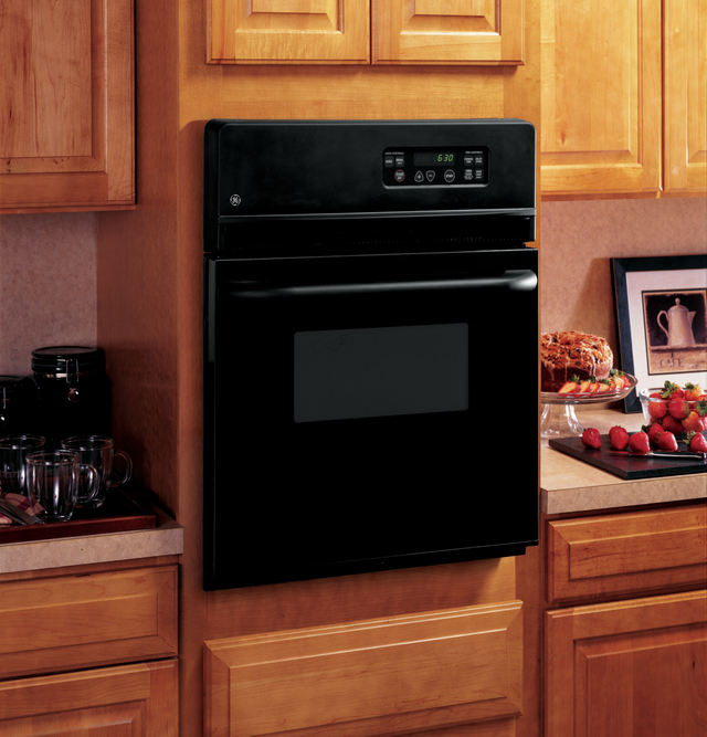 """GE® 24"""" Electric Single Oven Built In-Black-JRS06BJBB"""