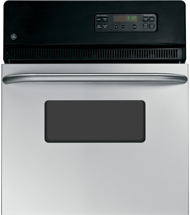 """GE® 24"""" Electric Single Oven Built In-Stainless Steel-JRS06SKSS"""