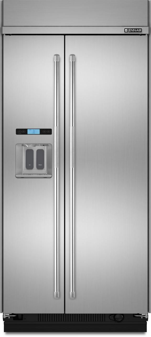 JennAir® 29.5 Cu. Ft. Built-In Side-By-Side Refrigerator-Stainless Steel-JS48PPDUDE