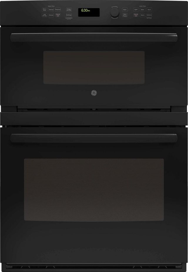 """GE® 29.75"""" Black Combination Double Wall Oven-JT3800DHBB"""