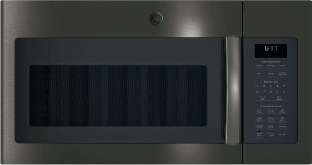 GE® Over-The-Range Sensor Microwave Oven-Black Stainless Steel-JVM6175BLTS