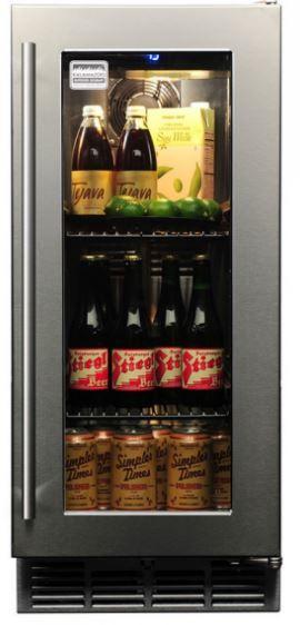 Kalamazoo Outdoor Gourmet 3.0 Cu. Ft Outdoor Refrigerator-Stainless Steel-K-HP15RO-3R