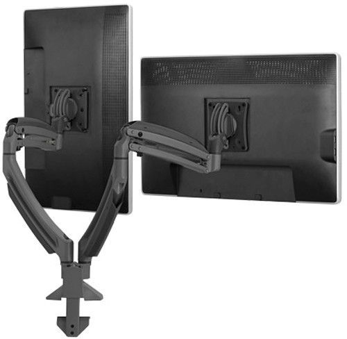Chief® Kontour™ Black K1D 2 Monitors Dynamic Desk Clamp Mount-K1D220BXDL