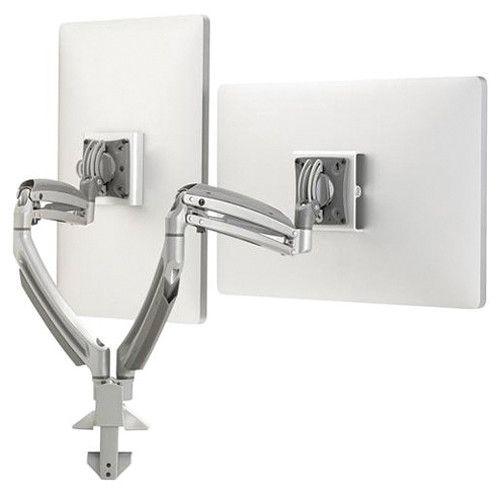 Chief® Kontour™ Silver K1D 2 Monitors Dynamic Desk Clamp Mount-K1D220S