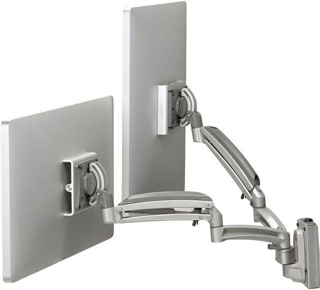 Chief® Kontour™ Silver K1S 2 Monitors Dynamic Slatwall Mount-K1S220S