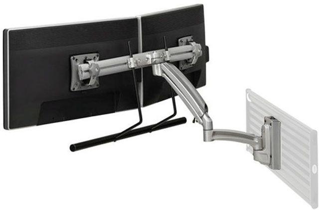 Chief® Kontour™ Silver K1S Dual Monitor Array Dynamic Slatwall Mount-K1S22HS