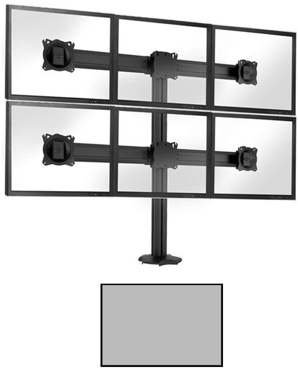 Chief® Kontour™ Silver K3 3x2 Static Array Grommet Mount-K3G320S