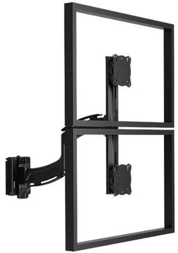 Chief® Kontour™ Black K4 1x2 Slat-Wall Mounted Vertical Focal Depth Adjustable Array-K4S120B