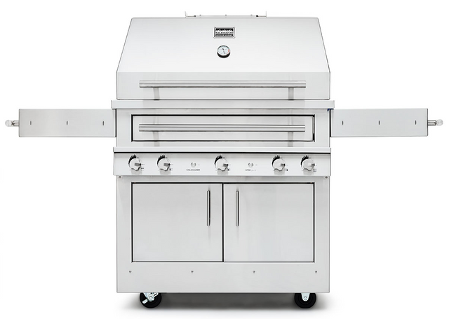 """Kalamazoo Outdoor Gourmet Hybrid Fire 38"""" Freestanding Grill-Stainless Steel-K750HT-NG"""