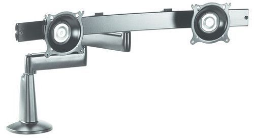 Chief® Silver Dual Arm Dual Monitor Desk Mount-KCD220S