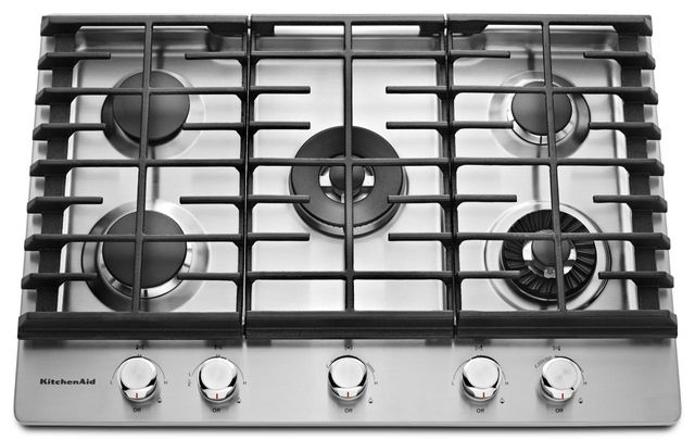 KitchenAid® 30'' Stainless Steel Gas Cooktop-KCGS950ESS