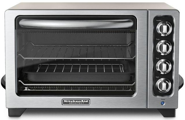 Kitchenaid 12 Countertop Oven Cocoa Silver Kco222cs Stewart S Tv Appliance