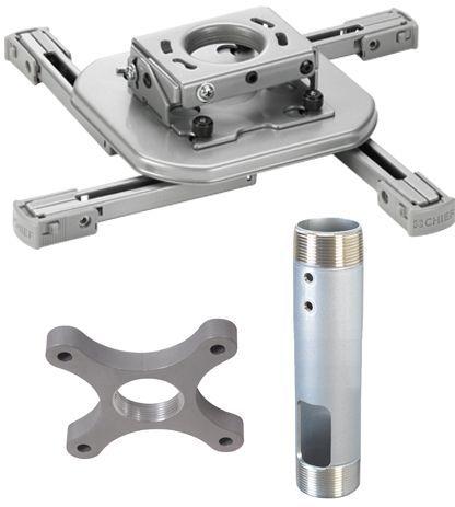 Chief® Silver Mini Universal RPA Projector Mount Kit-KITAF009012S