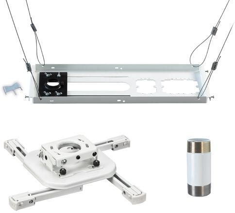 Chief® White Mini Universal Ceiling Projector Mount Kit-KITAS003W