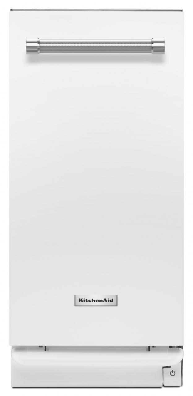 "KitchenAid® 15"" White Built In Trash Compactor-KTTS505EWH"