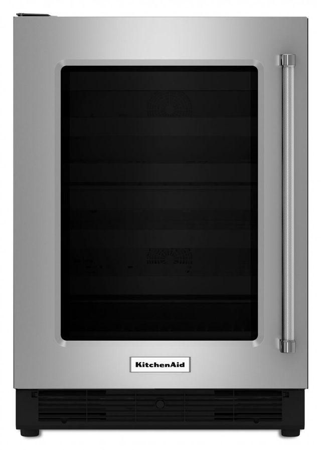 "KitchenAid® 24"" Stainless Steel Frame Under The Counter Refrigerator-KURL204ESB"