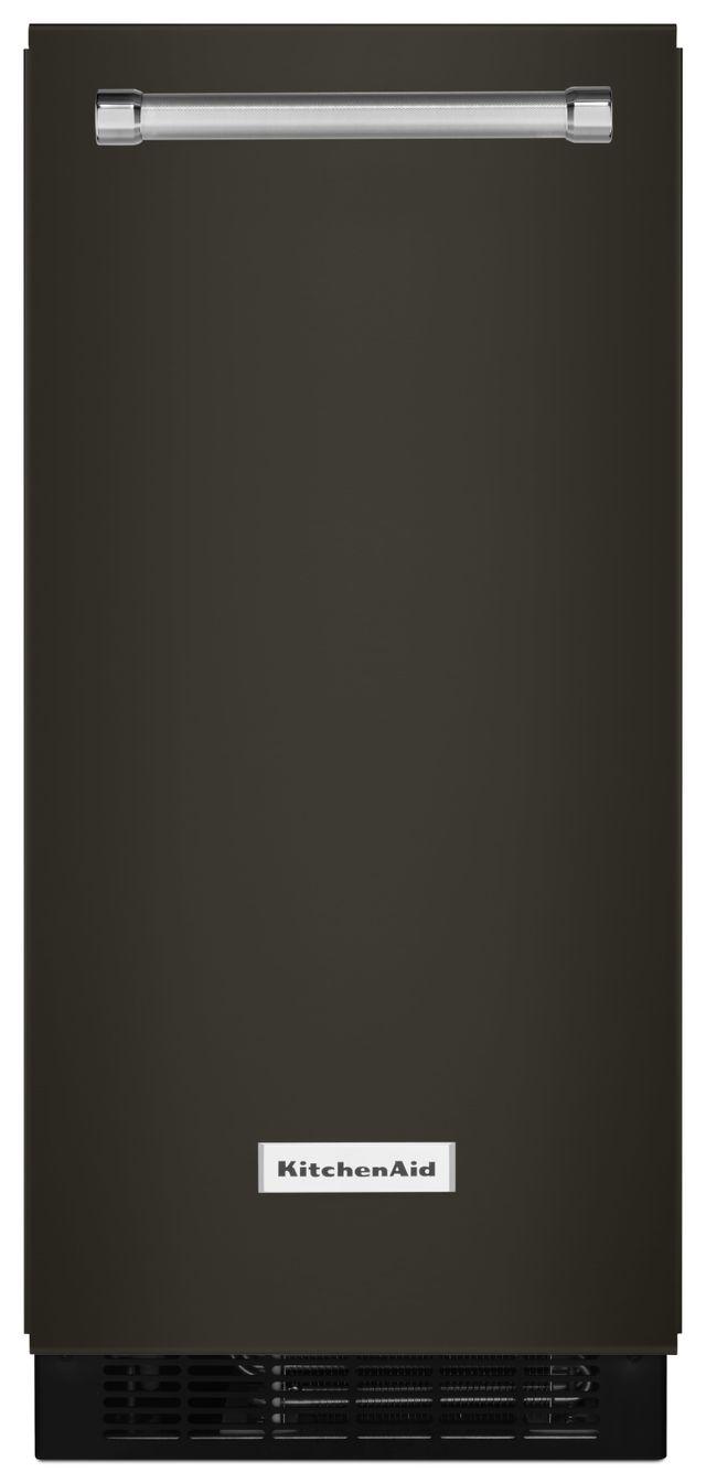 KitchenAid® 15'' Black Stainless Steel Automatic Ice Maker-KUIX505EBS