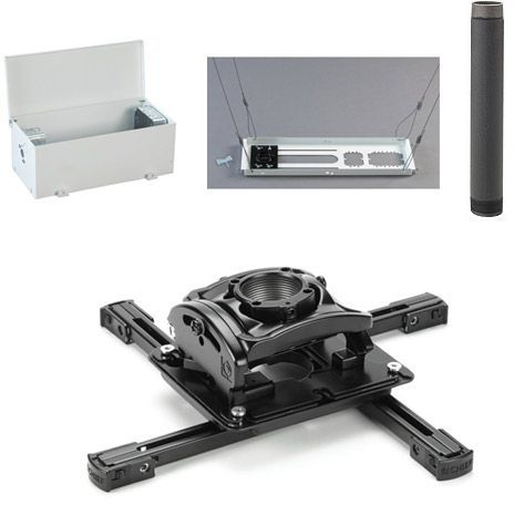 Chief® Black Elite Universal Ceiling Projector Mount Kit-KITES003P