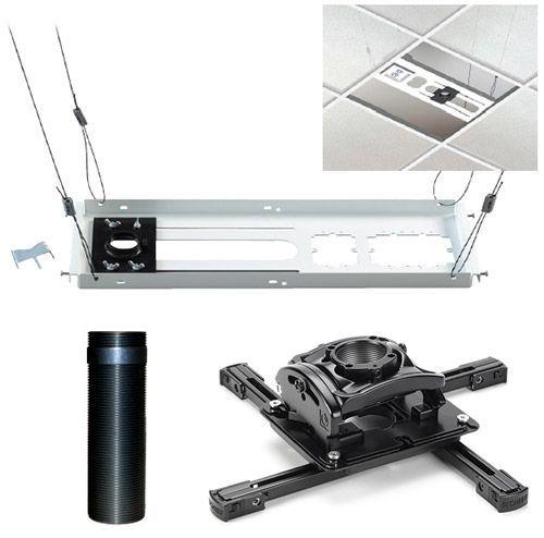 Chief® Black Elite Universal Ceiling Projector Mount Kit-KITEZ006